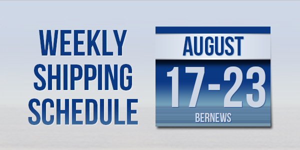 Weekly Shipping Schedule TC August 17 - 23 2019