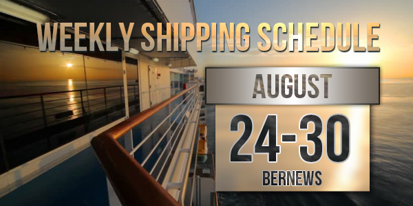 Weekly Shipping Schedule TC August 24 - 30 2019
