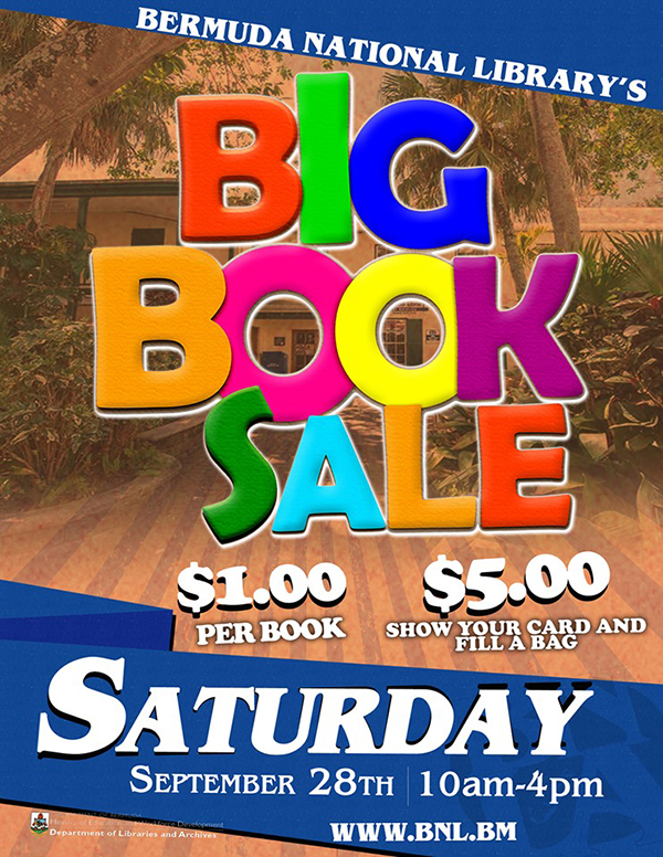 BIG Book Sale Bermuda Sept 2019