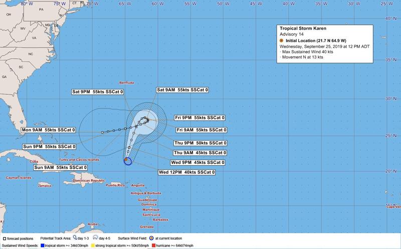BWS Tropical Storm Karen Bermuda Sept 2019