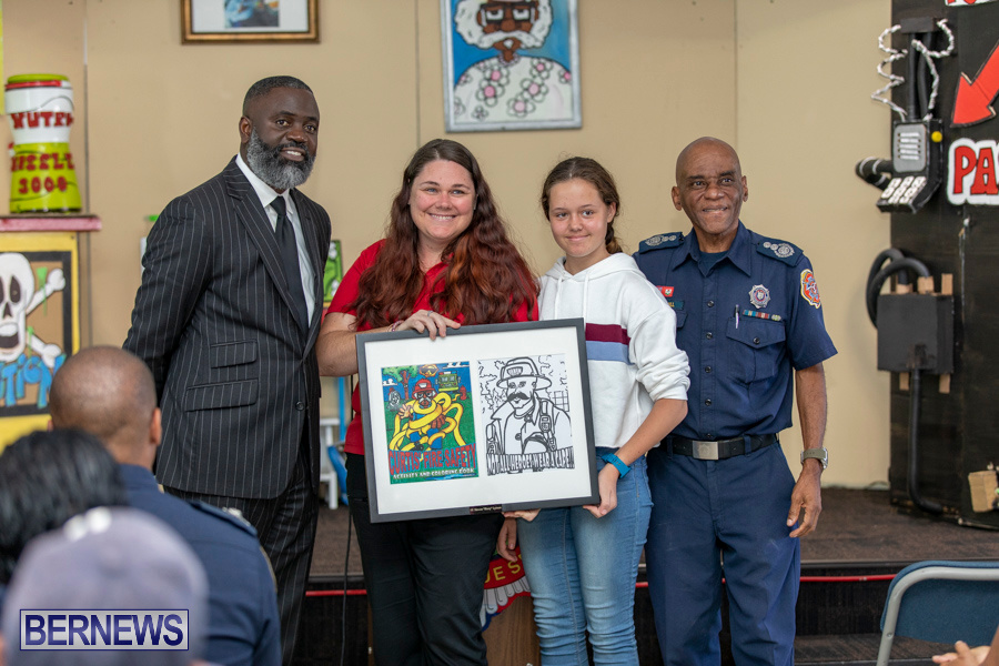Bermuda Fire & Rescue Service Launch Fire Safety Colouring Book, September 27 2019-1410