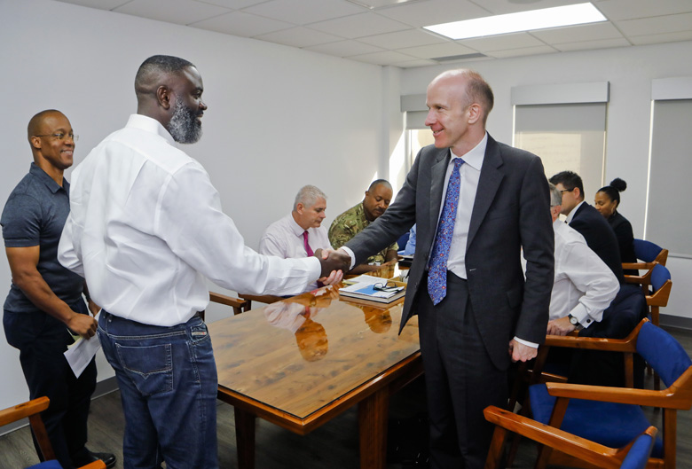 Minister Caines Governor UK OT Director Bermuda Sept 2019 (1)