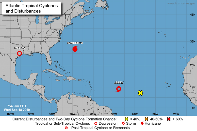 NHC Tropical Storm Jerry Bermuda September 2019