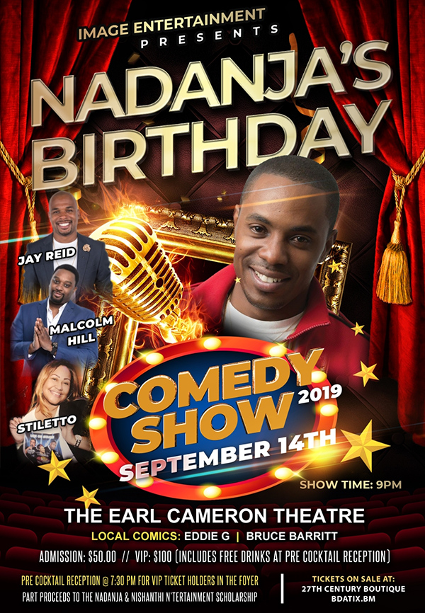 Nadanja's Birthday Comedy Show Bermuda Sept 2019