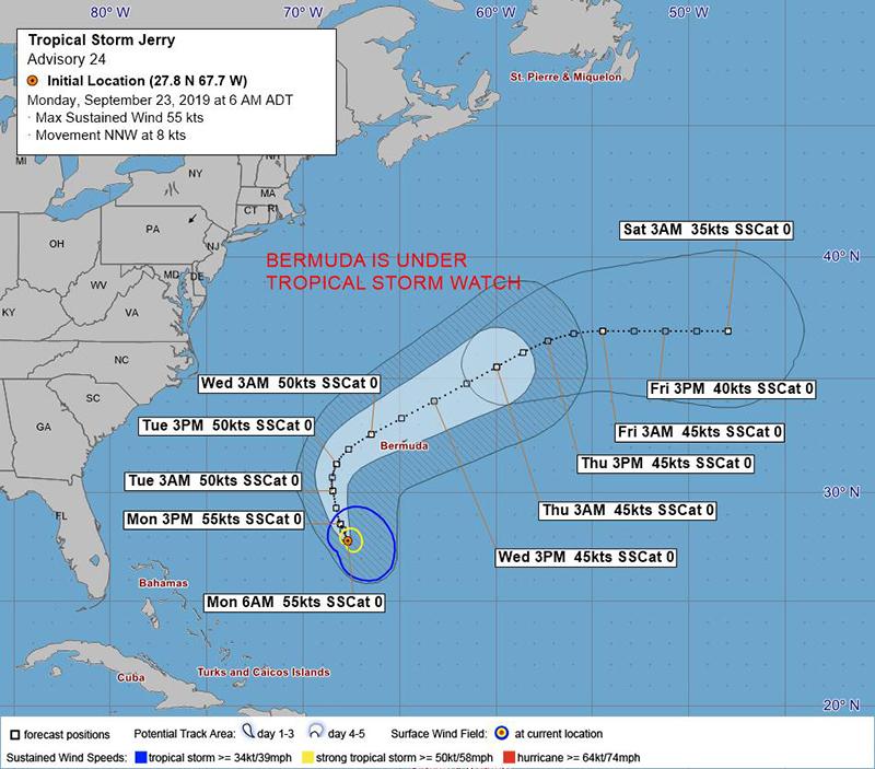 Tropical Storm Jerry Bermuda September 23 2019 BWS