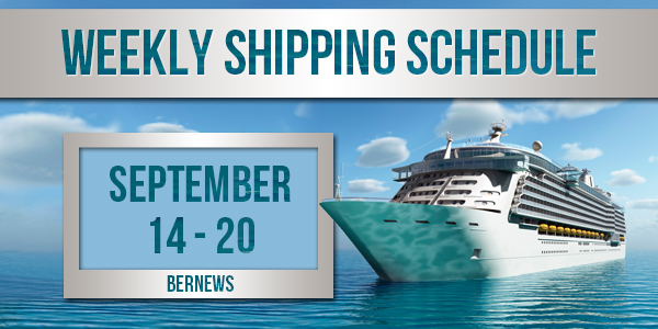 Weekly Shipping Schedule TC Sept 14 - 20 2019