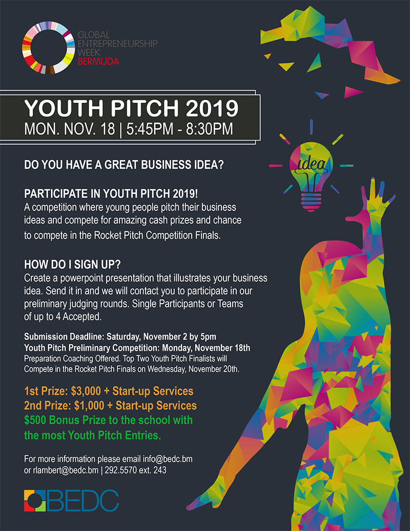 BEDC Youth Pitch Bermuda Oct 2019