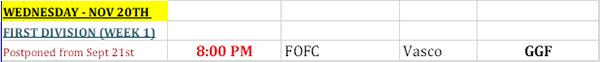BFA - Rescheduled Matches Bermuda Oct 2019 (1)