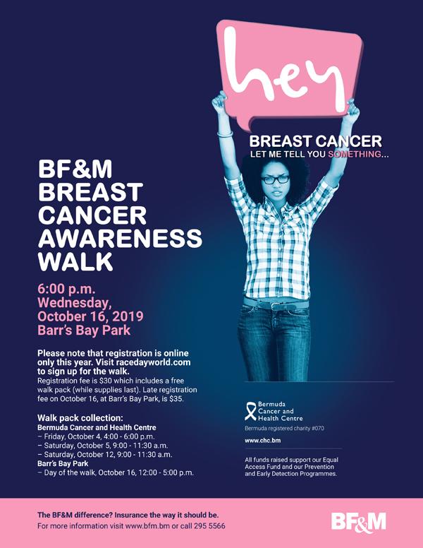 BF&M Breast Cancer Walk Bermuda October 2019