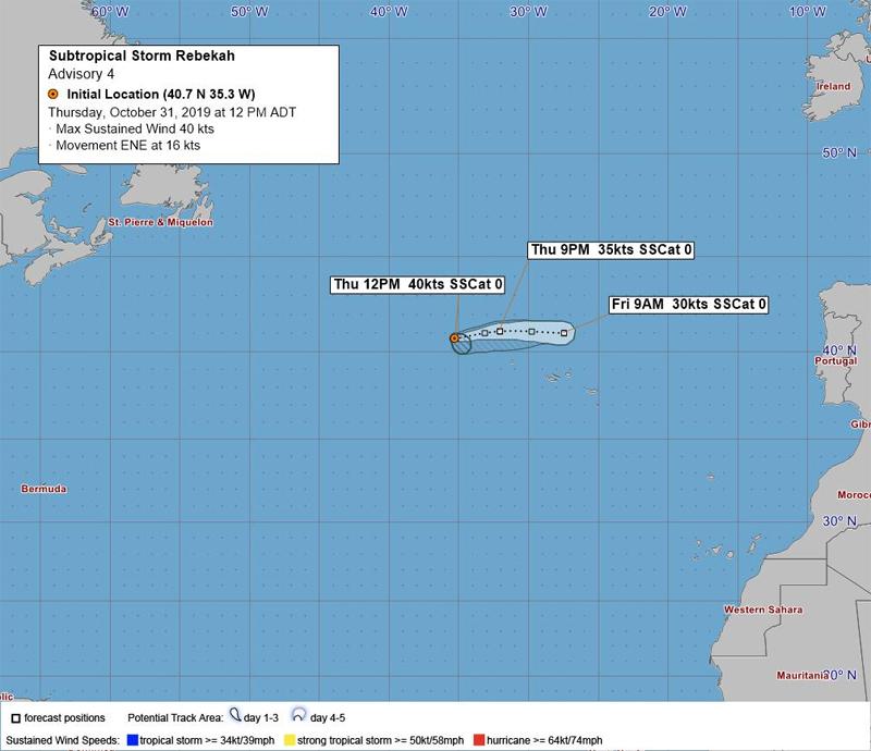 BWS Subtropical Storm Rebekah Bermuda Oct 31 2019