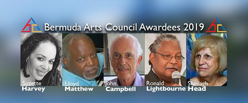 Bermuda Arts Council awardees OCt 19 2019