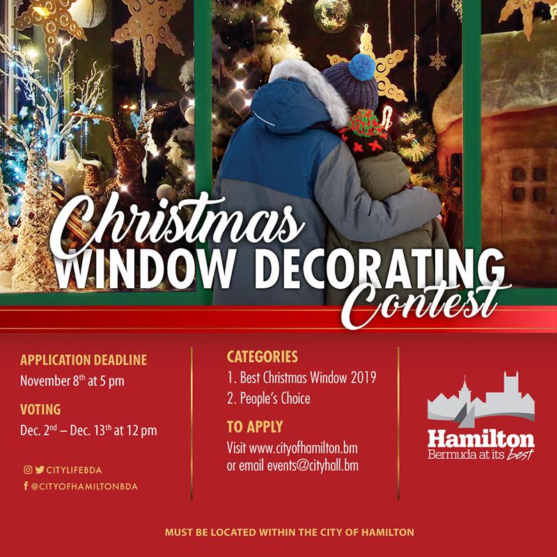 City Christmas Window Decorating Contest Bermuda Oct 2019