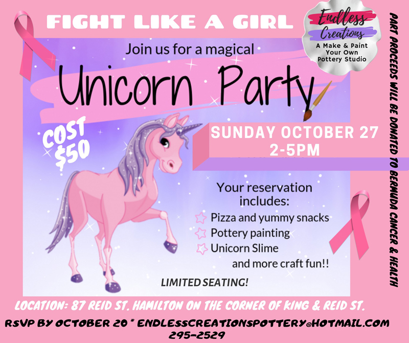 Endless Creations Unicorn Party Bermuda Oct 2019