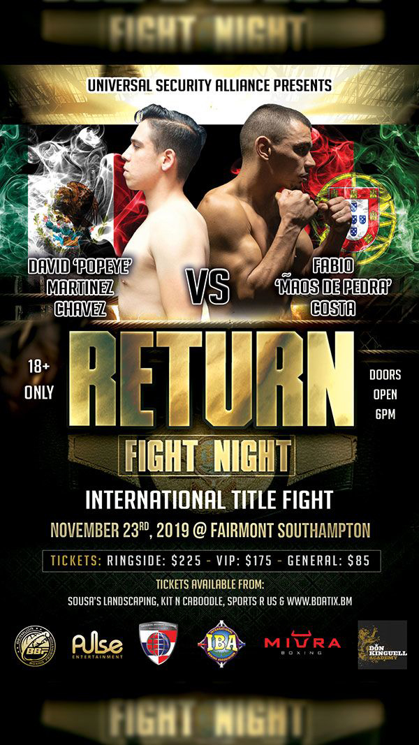 Fight Night Bermuda Oct 2019