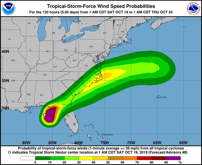 Hurricane Name Bermuda Oct 19 2019 NHC