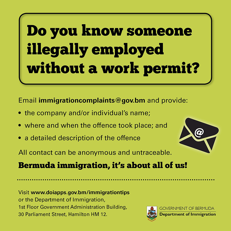Immigration - compliance Bermuda Oct 23 2019