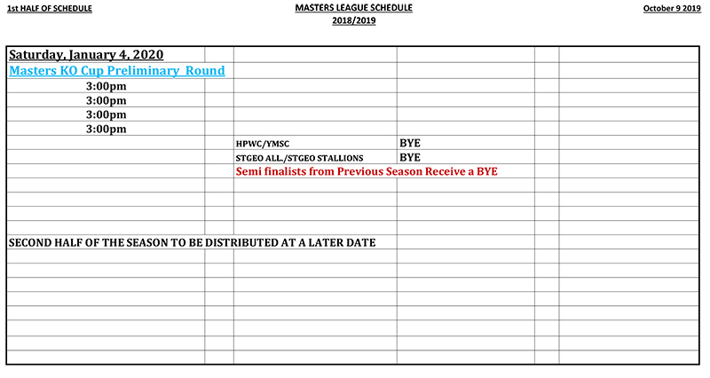 Masters League Schedule Bermuda Oct 2019 (3)