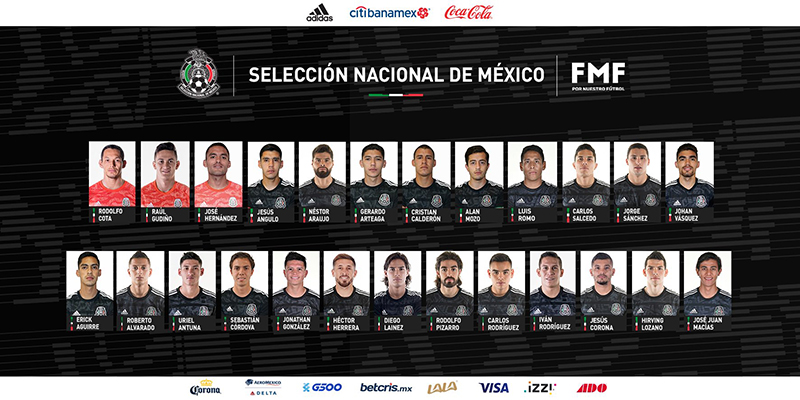 Mexico's CONCACAF National Team Bermuda Oct 2019