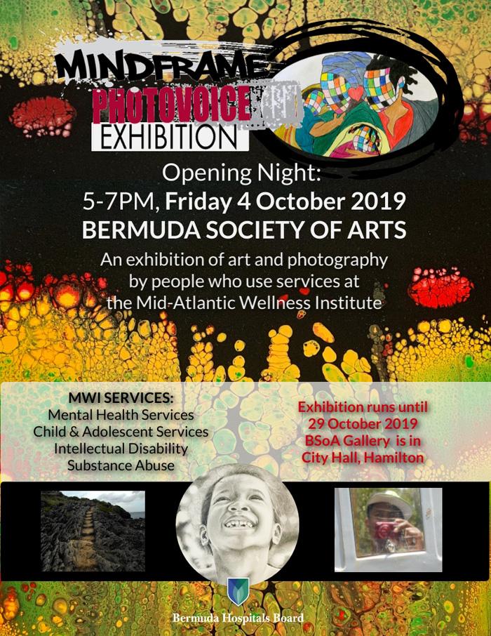 MindFrame PhotoVoice Exhibition Bermuda Oct 2019