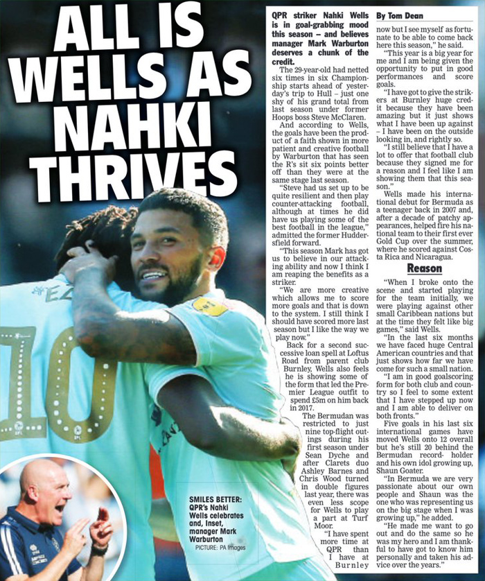 Nahki Wells Bermuda October 2019
