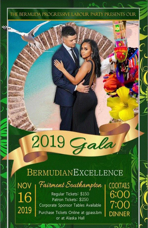 PLP Gala Bermuda November 2019