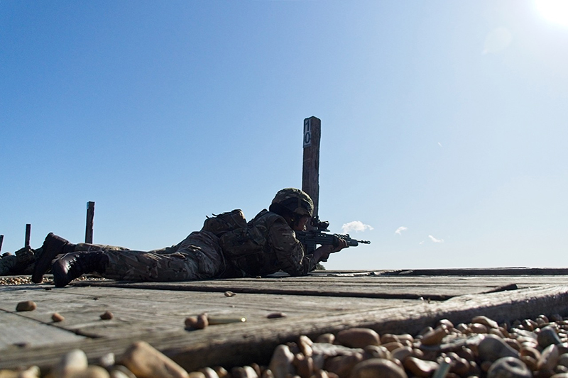 Range Day for Alpha Comapny of the Royal Bermuda Regiment at Camp Lydd UK.