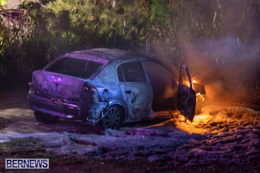 Vehicle Car Fire Bermuda, October 29 2019-0074
