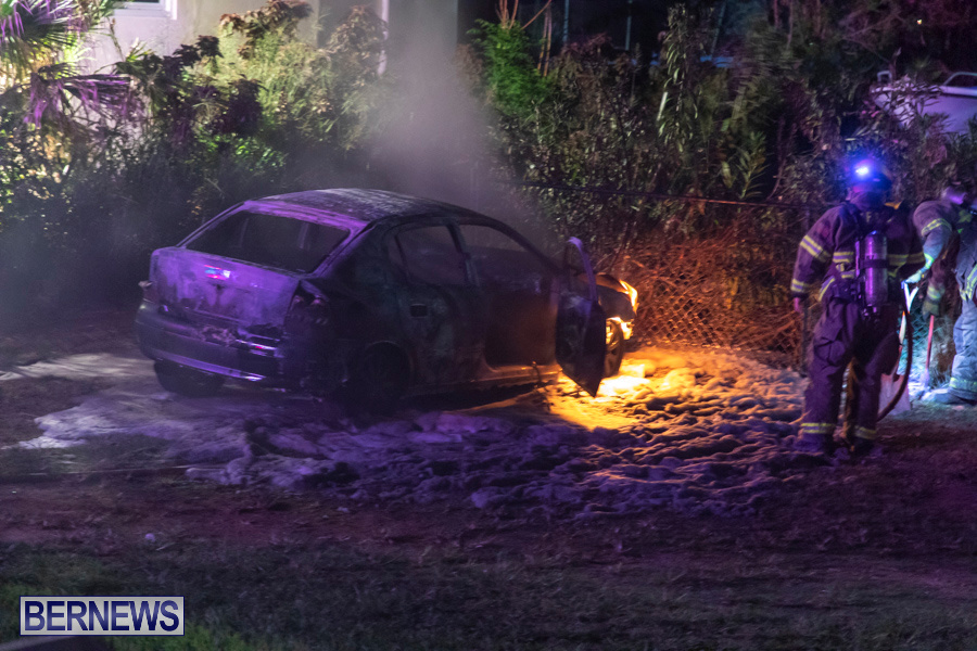 Vehicle Car Fire Bermuda, October 29 2019-0083