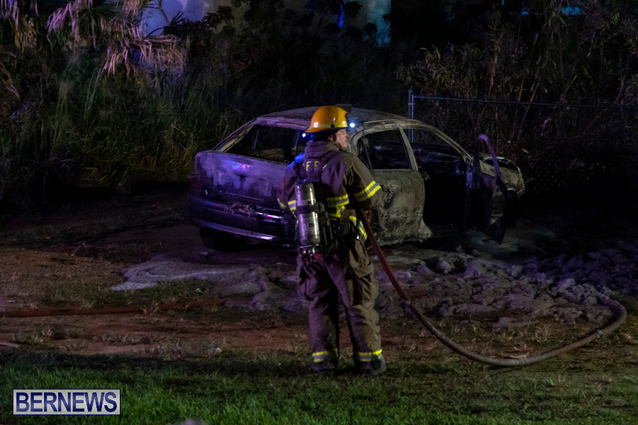 Vehicle Car Fire Bermuda, October 29 2019-0086