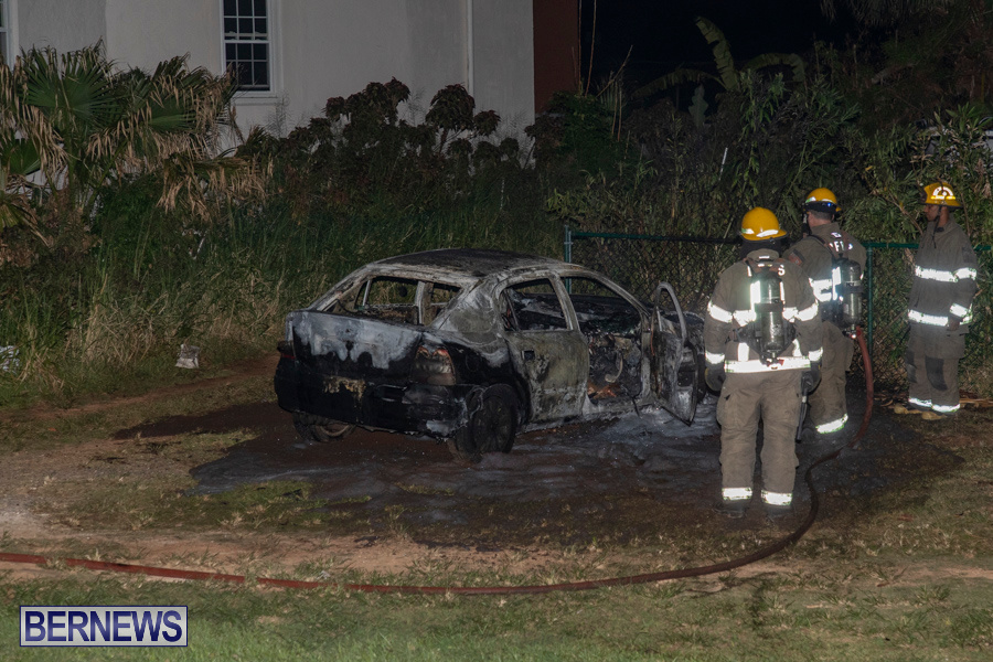 Vehicle Car Fire Bermuda, October 29 2019-0096