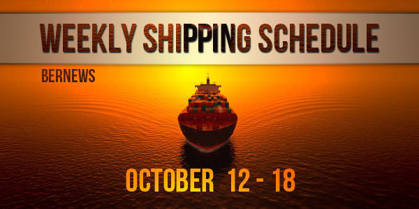 Weekly Shipping Schedule TC Oct 12 - 18 2019