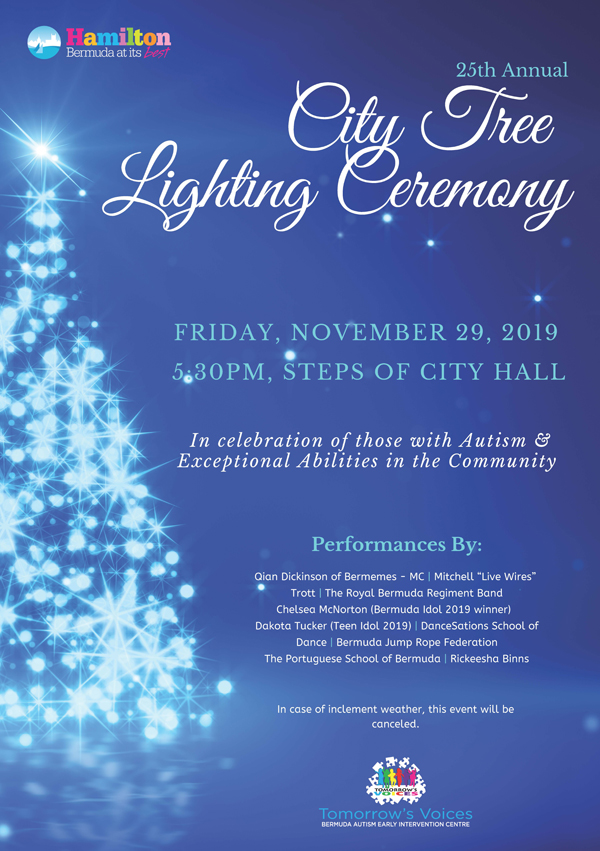 25th Annual Tree Lighting Ceremony Bermuda Nov 2019