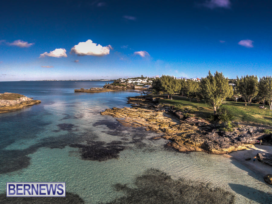 476 - An aerial image of a beautiful day at Spanish Point Park