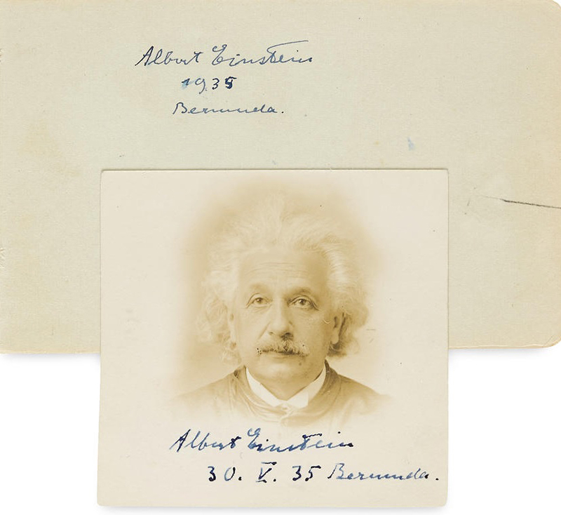 Autographed Photograph Of Albert Einstein Bermuda Oct 2019