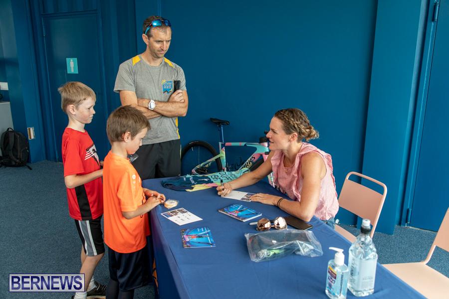 Iron Kids Card Signing triathlon champion Flora Duffy Bermuda, November 16 2019-2270