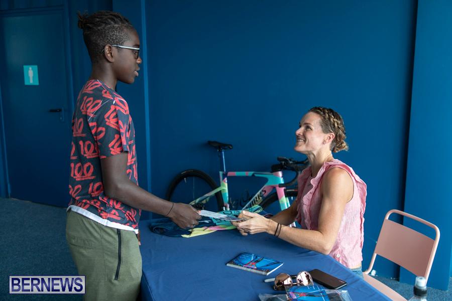 Iron Kids Card Signing triathlon champion Flora Duffy Bermuda, November 16 2019-2276