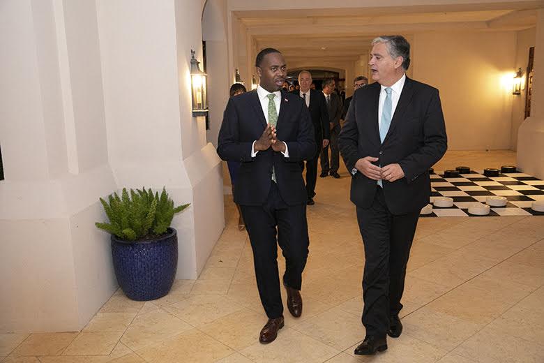 Premier David Burt President Vasco Cordeiro Reception at Rosewood Bermuda, November 2 2019 (2)