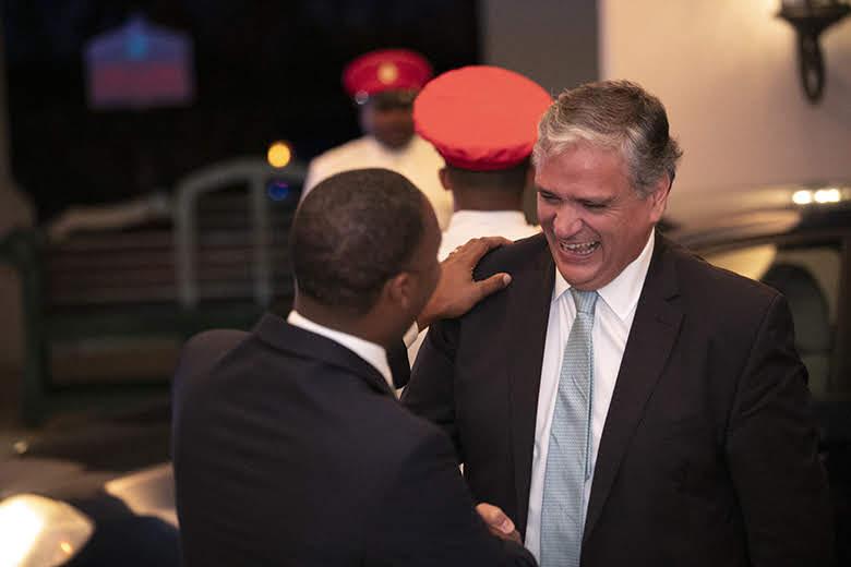 Premier David Burt President Vasco Cordeiro Reception at Rosewood Bermuda, November 2 2019 (3)