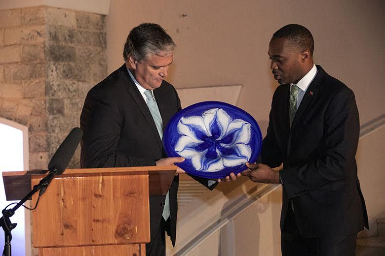 Premier David Burt President Vasco Cordeiro Reception at Rosewood Bermuda, November 2 2019 (6)