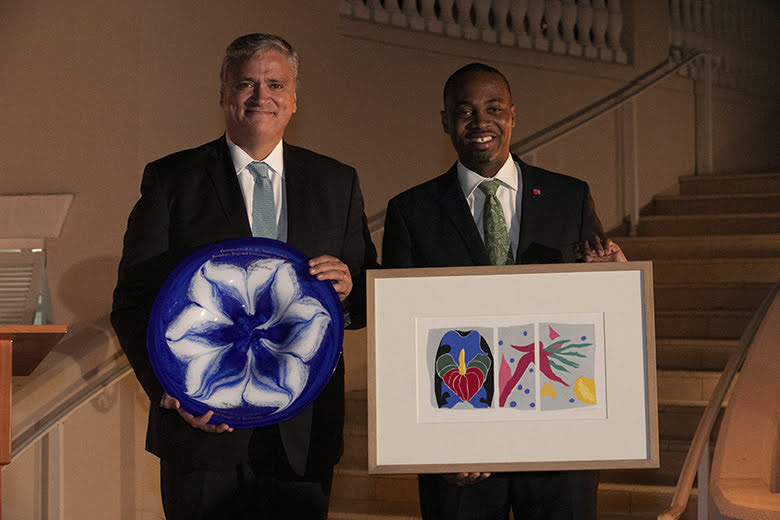 Premier David Burt President Vasco Cordeiro Reception at Rosewood Bermuda, November 2 2019 (7)