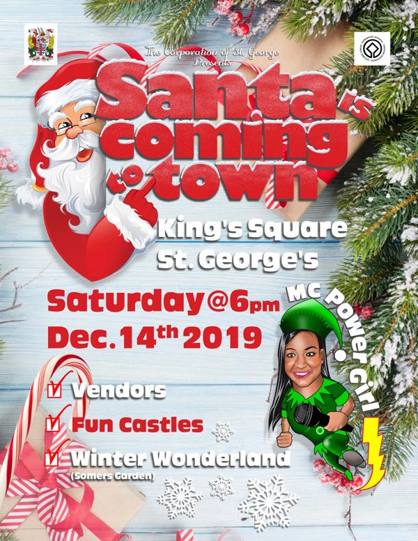 Santa is Coming to Town Bermuda Dec 2019