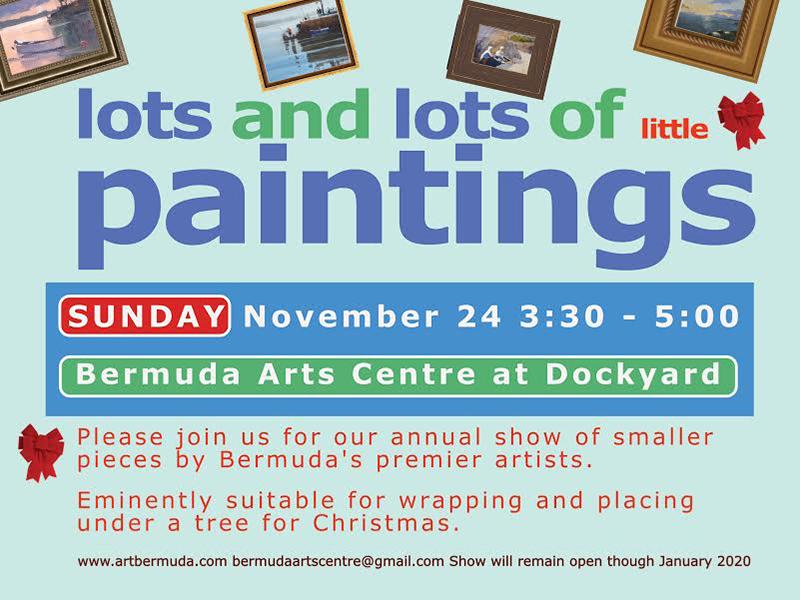 Small Works Art Exhibit Bermuda Nov 2019