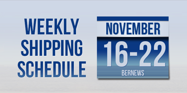 Weekly Shipping Schedule TC Nov 16-22 2019