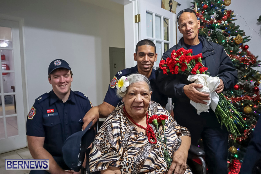 BFRS Bermuda Fire Rescue Service Christmas Community Visits Bermuda, December 25 2019-1-3