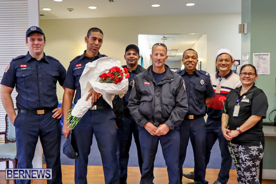 BFRS Bermuda Fire Rescue Service Christmas Community Visits Bermuda, December 25 2019-1-4