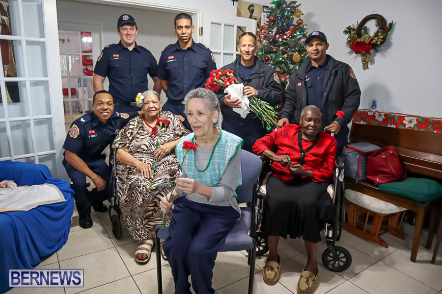 BFRS Bermuda Fire Rescue Service Christmas Community Visits Bermuda, December 25 2019-2-3