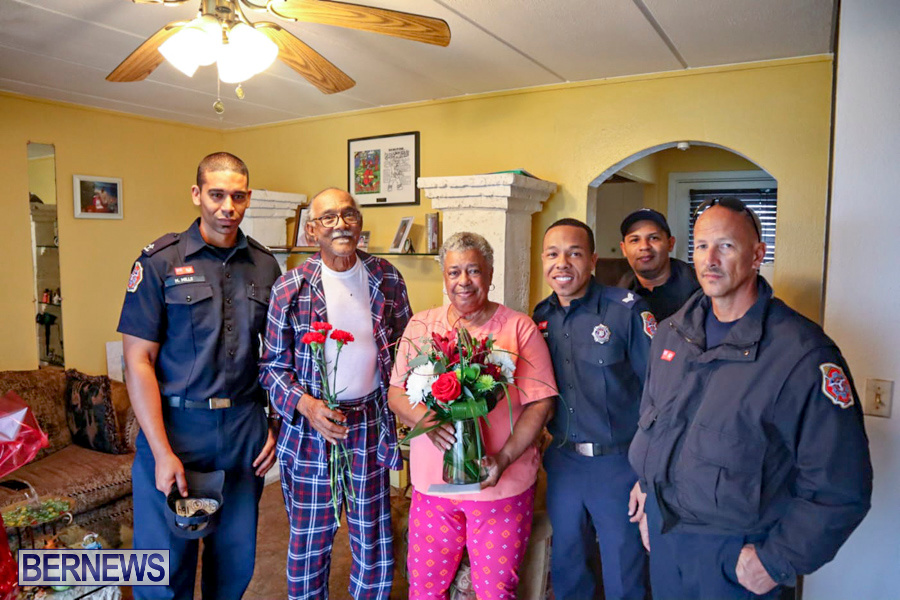 BFRS Bermuda Fire Rescue Service Christmas Community Visits Bermuda, December 25 2019-38