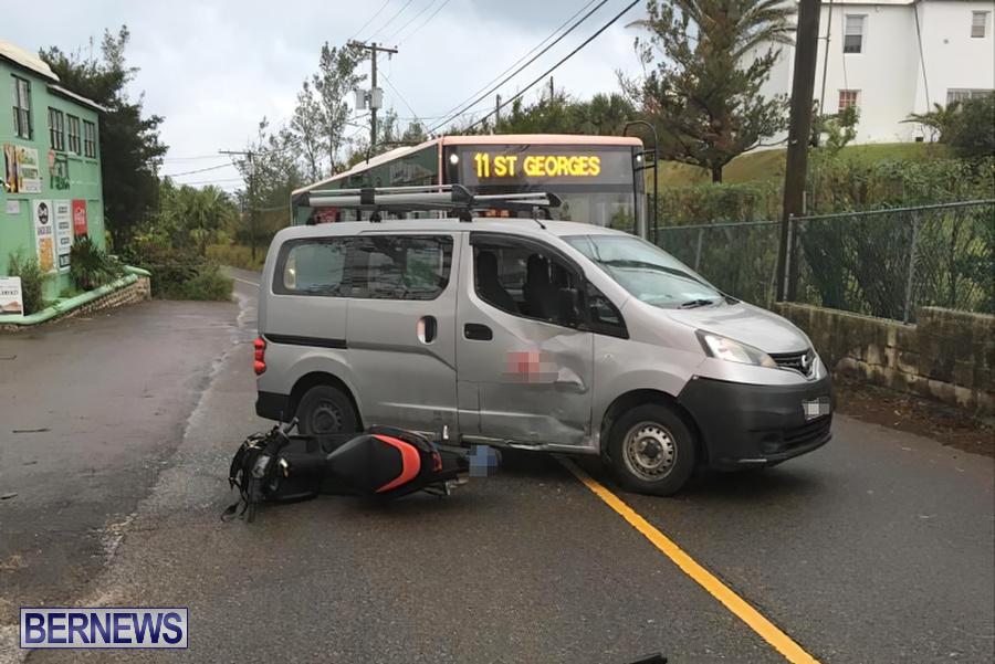 Bike Van Collision Bermuda, December 19 2019