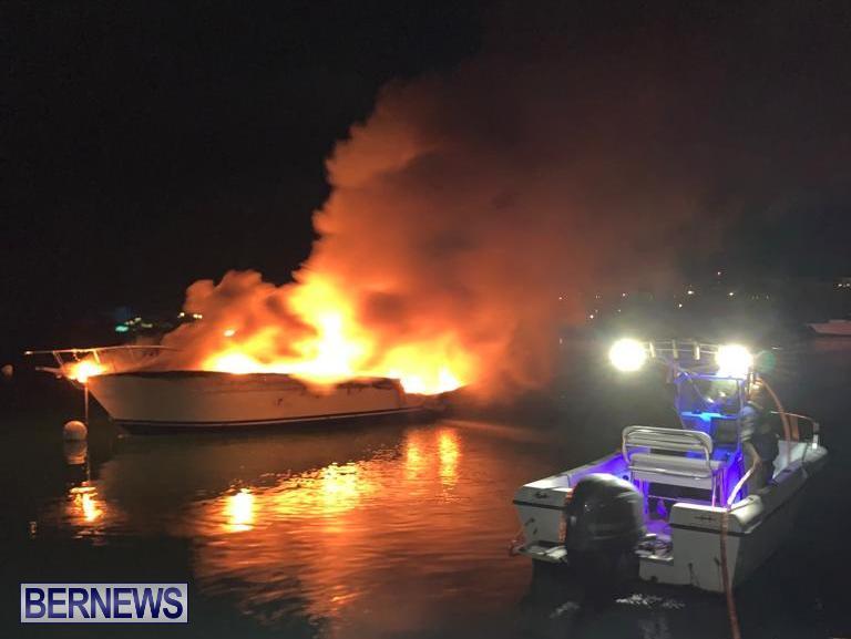 Boat Fire St David's Bermuda, December 6 2019 (3)