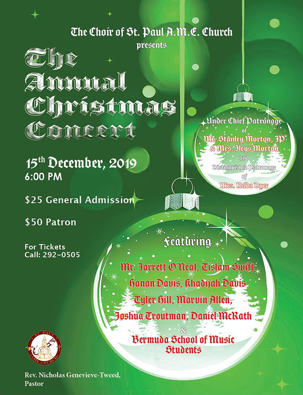 Christmas Concert Bermuda Dec 2019